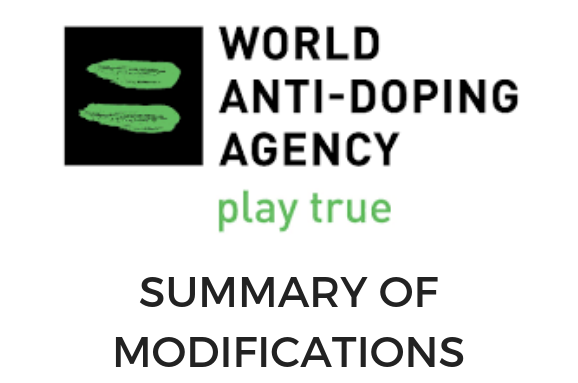 WADA Summary of Modifications