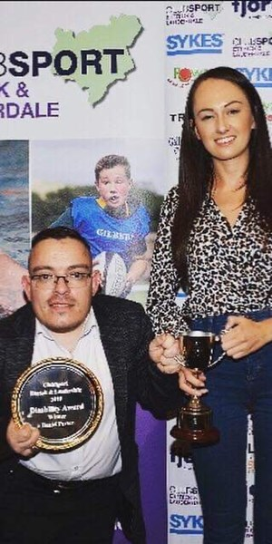 Daniel Porter wins Disability Award at Ettrick and Lauderdale Sports Awards